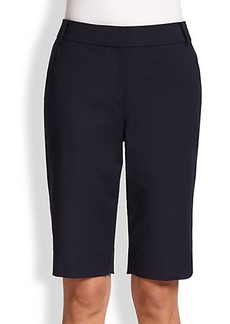 St. John Stretch Cotton Bermuda Shorts