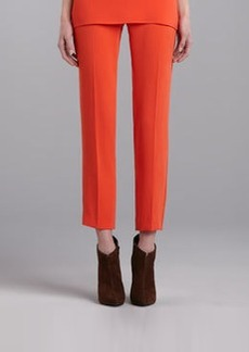 St. John Collection Emma Luxe Crepe Cropped Pants, Flame