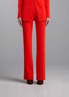 St. John Collection Milano Knit Straight-Leg Pants, Flame
