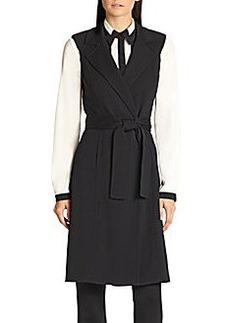St. John Tie Belt Maxi Vest