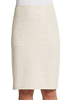 St. John Tweed Shimmer Pencil Skirt