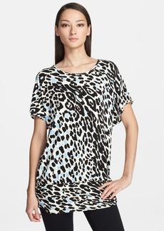 St. John Yellow Label Leopard Print Dolman Sleeve Jersey Tunic