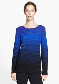 St. John Yellow Label Ombré Basket Weave Knit Sweater