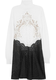 Stella McCartney Abella wool and lace mini dress