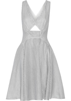 Stella McCartney Angela striped cotton and silk-blend dress