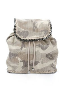 Stella McCartney beige camo canvas 'rucksack' backpack
