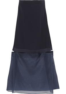 Stella McCartney Benni crepe and silk-organza dress