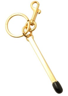 Stella McCartney black enamel matchstick keychain