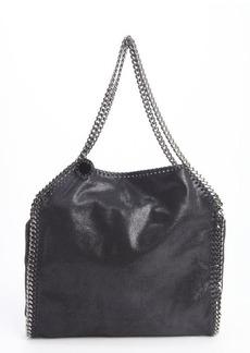 Stella McCartney black faux leather 'Falabella' braided chain detail tote