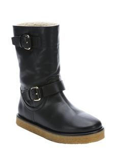 Stella McCartney black faux leather 'Harper' lined boots