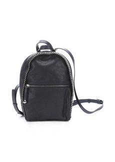 Stella McCartney black faux leather mini backpack