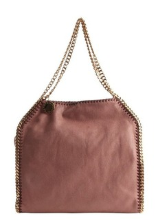 Stella McCartney blossom pink faux leather 'Falabella' braided chain detail tote