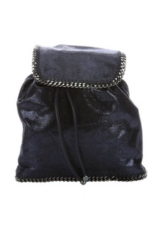 Stella McCartney blue metallic faux leather and suede 'Rucksack' backpack