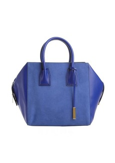 Stella McCartney bluebird faux leather and faux suede top handle 'Boston' bag