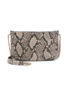 Stella McCartney brown faux python 'Bailey Boo' crossover shoulder bag
