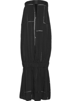 Stella McCartney Brunelle sheer-paneled satin-twill dress