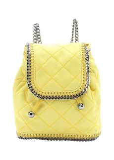 Stella McCartney canary yellow quilted faux suede 'Falabella' mini backpack
