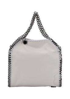 Stella McCartney chalk white faux suede 'Falabella' braided chain detail mini shoulder bag