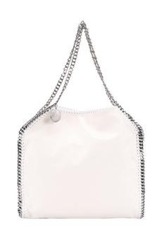 Stella McCartney chalk white faux suede 'Falabella' braided chain detail tote