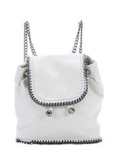 Stella McCartney chalk white faux suede 'Falabella' mini backpack