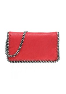 Stella McCartney cherry faux suede 'Falabella' chain link cross body