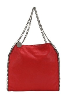 Stella McCartney cherry red faux suede 'Falabella' chain shoulder bag