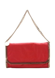 Stella McCartney chilli faux suede 'Falabella' convertible chain shoulder bag