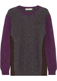 Stella McCartney Color-block wool-blend sweater