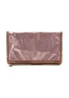 Stella McCartney copper vegan suede 'Falabella' foldover clutch
