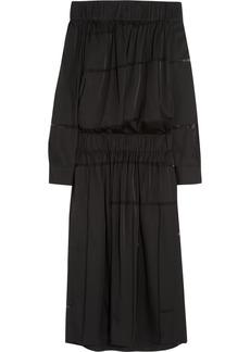 Stella McCartney Dennie silk-chiffon paneled satin-twill dress