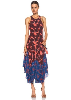 "Stella McCartney <div class=""product_name"">Laila Paisley Pleated Silk Dress</div>"