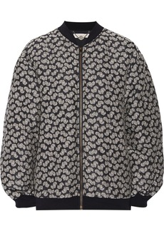 Stella McCartney Elenore printed wool-jacquard bomber jacket