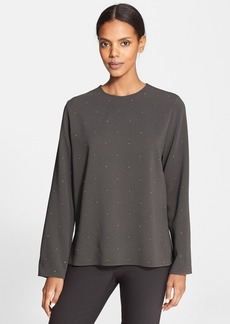 Stella McCartney Embellished Stretch Cady Shirt