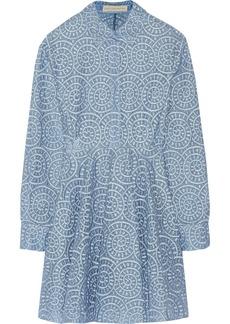 Stella McCartney Embroidered gauze mini dress