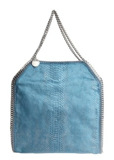 Stella McCartney feather blue snake printed faux leather 'Falabella' shoulder bag