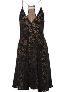 Stella McCartney Floral-print burnout-effect twill dress