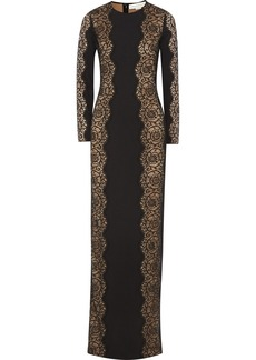 Stella McCartney Florence lace-paneled cady gown
