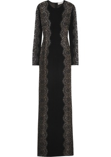 Stella McCartney Florence lace-paneled stretch-crepe gown
