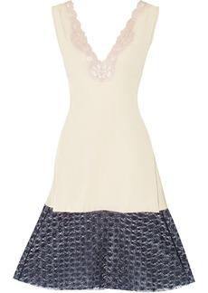 Stella McCartney Francesca lace-trimmed washed-crepe dress