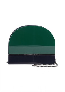 Stella McCartney green and blue plexiglass and faux leather 'Iris' clutch