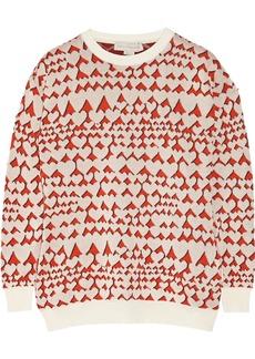 Stella McCartney Heart-print cotton-blend intarsia sweater
