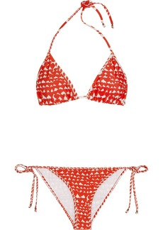 Stella McCartney Heart-print triangle bikini
