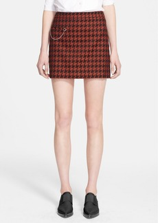 Stella McCartney Houndstooth Wool Blend Miniskirt