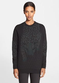 Stella McCartney Leopard Jacquard Cotton Sweatshirt