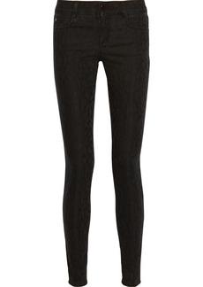 Stella McCartney Leopard-jacquard skinny jeans