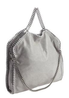 Stella McCartney light grey faux suede 'Falab' braided chain detail shoulder bag