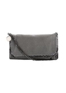 Stella McCartney light grey faux suede 'Falabella' braided chain detail shoulder bag
