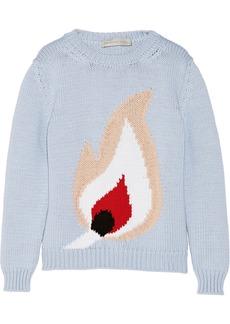 Stella McCartney Match intarsia cotton-blend sweater