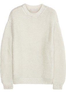 Stella McCartney Metallic coated cotton-blend sweater