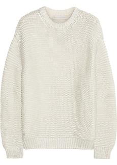 Stella McCartney Metallic coated cotton-blend sweater